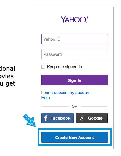 Yahoo!のユーザ登録
