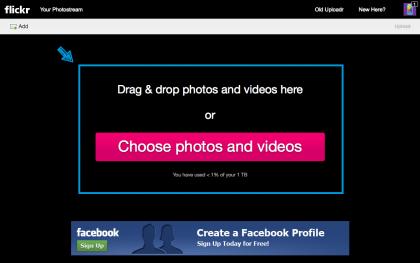 flickrのアップロード2